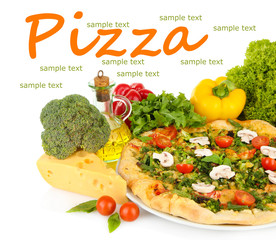 Tasty vegetarian pizza