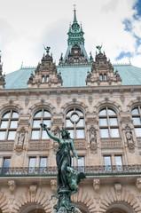 Rathaus Hygieia-Brunnen in Hamburg