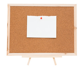 Cork board isolated on white background, clipping path