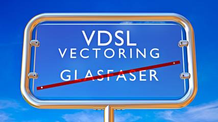VDSL Vectoring - Glasfaserkabel