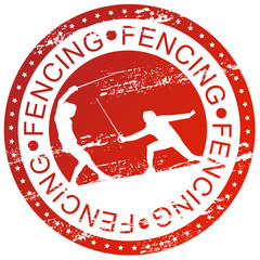 Sports stamp - Fencing