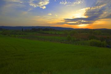 arezzo colli senesi tramonto