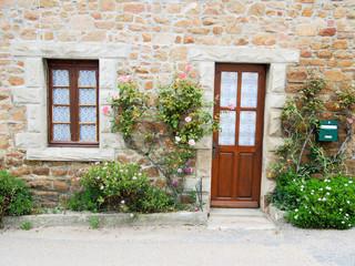 entrée de maison bretonne