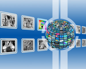 screen and sphere