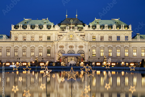 Foto op Canvas Wenen Christmas Stars In Vienna