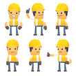 ������, ������: set of contractor character in different poses