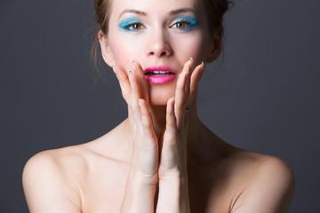 Beautiful model , fashion makeup