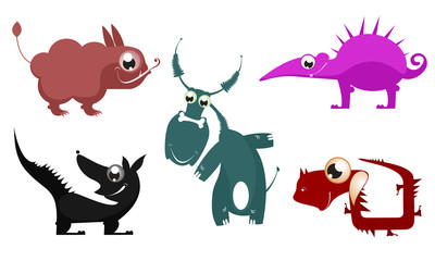 Fantastic cartoon animal vector collection for design