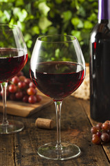 Refreshing Red Wine In a Glass