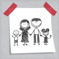Dessin : famille feutre noir