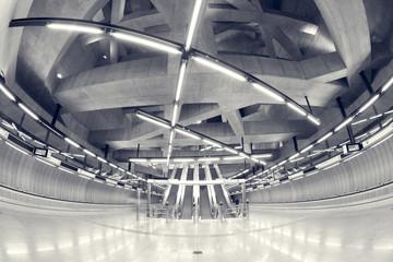 modern station interior