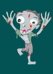 Zombie maan, art vector illustration
