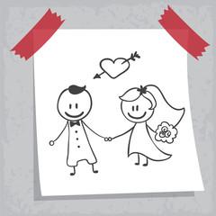 Dessin : mariage