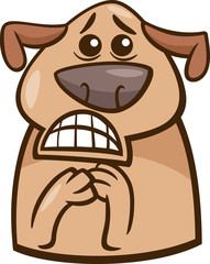 terrified dog cartoon illustration
