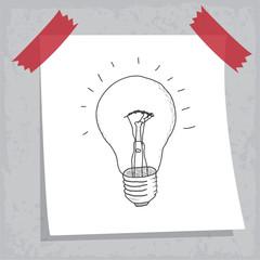 Dessin : ampoule