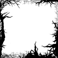 square forest background frame illustration