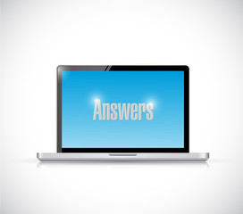 computer answers message illustration design