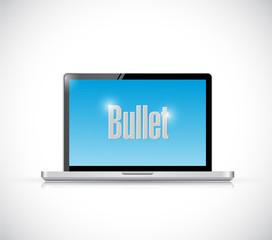 laptop bullet message illustration design
