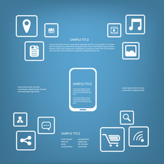 Smartphone or tablet infographics