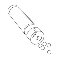 Homeopatía gránulos sencilló líneas