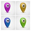 gps map pointers vector icon set
