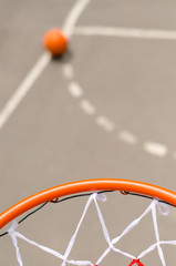 Basketball net and goal