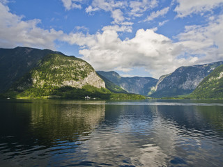 Hallstatt lake and Alp