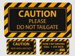 Caution truck signs - 68186111