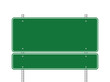 Blank green road sign - 68186147