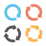 Four arrow reload icons - 68186120