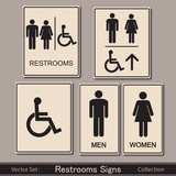 Fototapety Restroom signs collection
