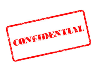 Confidential rubber stamp illustration