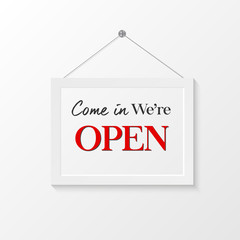 Open sign illustration