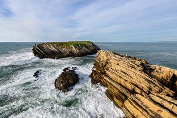 Ilha de Baleal e as suas formações rochosas