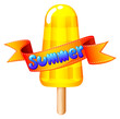 A refreshing icecream on stick for summer