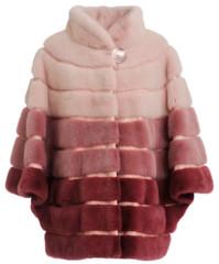 Fur coat claret