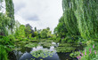 Giverny, France. Wonderful panoramic view of Monet's garden and - 68187101