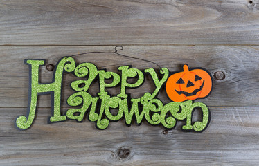 Hallowen Sign on Aged wood