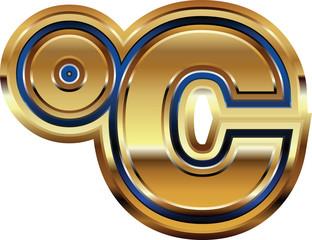 Golden Celcius Symbol