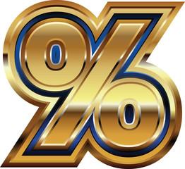 Golden Percent Symbol