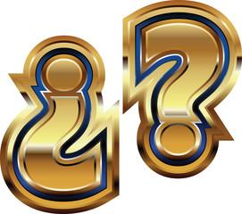 Golden Question Mark Symbol