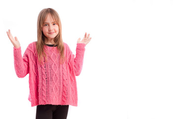 Young girl surprise gesture