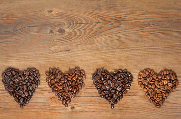 Coffee Bean Hearts