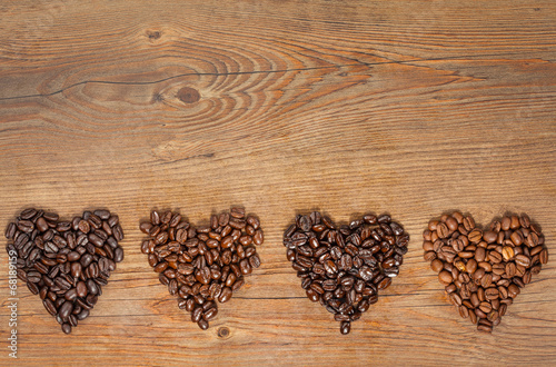 Coffee Bean Hearts - 68189159