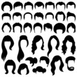 hair silhouettes, woman and man hairstyle - 68190784