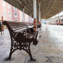 bench on Sirkeci railway station