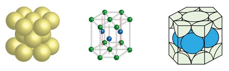 hexagonal crystal lattice unit cell