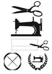 Schneider Design-Elemente, Etiketten, Zeichen
