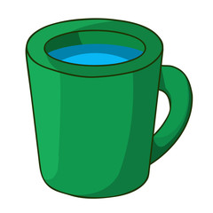 cup with water isolated illustration