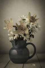 Fading Flowers in Jug